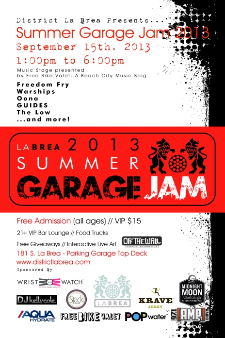District La Brea Summer Garage Jam 2013 FINAL - 9.15.13