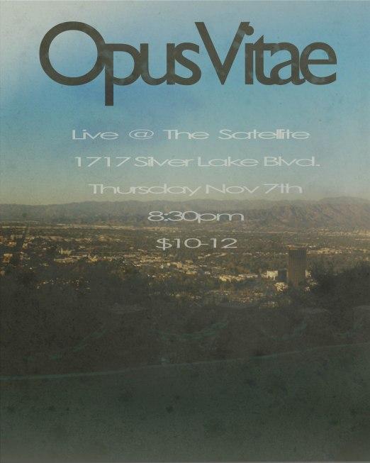 Opus Vitae Nov7th poster