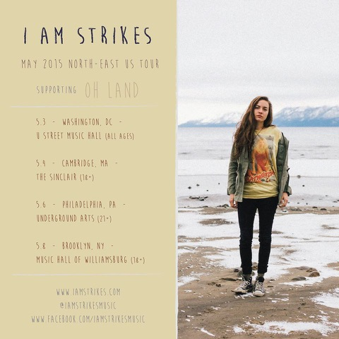 I Am Strikes_Oh Land Tour poster